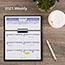 "AT-A-GLANCE® Flip-A-Week Desk Calendar and Base, 5 5/8"" x 7"", White, 2021 Thumbnail 6"