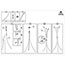 Alba™ Aluminum Floor Coat Stand, 6 Small Hook, 3 Pegs, Black Thumbnail 2