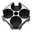 Alba™ Rendez-Vous Cup Tray, 4 Compartments, Black Thumbnail 7