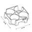 Alba™ Rendez-Vous Cup Tray, 4 Compartments, Black Thumbnail 4