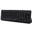Adesso Multimedia Desktop Keyboard with 3-Port USB Hub, Cable Connectivity, Black Thumbnail 7