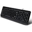 Adesso Multimedia Desktop Keyboard with 3-Port USB Hub, Cable Connectivity, Black Thumbnail 3