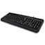 Adesso Multimedia Desktop Keyboard with 3-Port USB Hub, Cable Connectivity, Black Thumbnail 2