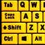Adesso EasyTouch 132 - Luminous 4X Large Print Multimedia Desktop Keyboard - Cable Connectivity - USB Interface - 122 Key - English (US) - PC, Mac, iOS - Membrane Keyswitch - Fluorescent Yellow, Black Thumbnail 8