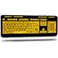 Adesso EasyTouch 132 - Luminous 4X Large Print Multimedia Desktop Keyboard - Cable Connectivity - USB Interface - 122 Key - English (US) - PC, Mac, iOS - Membrane Keyswitch - Fluorescent Yellow, Black Thumbnail 6