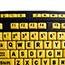 Adesso EasyTouch 132 - Luminous 4X Large Print Multimedia Desktop Keyboard - Cable Connectivity - USB Interface - 122 Key - English (US) - PC, Mac, iOS - Membrane Keyswitch - Fluorescent Yellow, Black Thumbnail 3