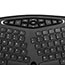 Adesso TruForm Media 160 - Ergonomic Desktop Keyboard - Cable Connectivity - USB Interface - 104 Key - English (US) - Scroll Wheel - Windows - Membrane Keyswitch - Black Thumbnail 6