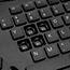 Adesso TruForm Media 160 - Ergonomic Desktop Keyboard - Cable Connectivity - USB Interface - 104 Key - English (US) - Scroll Wheel - Windows - Membrane Keyswitch - Black Thumbnail 4
