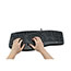 Adesso TruForm Media 160 - Ergonomic Desktop Keyboard - Cable Connectivity - USB Interface - 104 Key - English (US) - Scroll Wheel - Windows - Membrane Keyswitch - Black Thumbnail 3
