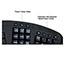 Adesso Tru-Form 450 - Ergonomic Touchpad Keyboard - Cable Connectivity - USB Interface - 105 Key - English (US) - TouchPad - Windows - Membrane Keyswitch - Black Thumbnail 2