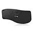 Adesso Tru-Form 4500 - 2.4GHz Wireless Ergonomic Touchpad Keyboard - Wireless Connectivity - RF - USB Interface - 105 Key - English (US) - TouchPad - Windows - Membrane Keyswitch - Black Thumbnail 2