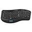 Adesso Tru-Form 4500 - 2.4GHz Wireless Ergonomic Touchpad Keyboard - Wireless Connectivity - RF - USB Interface - 105 Key - English (US) - TouchPad - Windows - Membrane Keyswitch - Black Thumbnail 10
