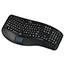 Adesso Tru-Form 4500 - 2.4GHz Wireless Ergonomic Touchpad Keyboard - Wireless Connectivity - RF - USB Interface - 105 Key - English (US) - TouchPad - Windows - Membrane Keyswitch - Black Thumbnail 9