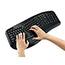 Adesso Tru-Form 4500 - 2.4GHz Wireless Ergonomic Touchpad Keyboard - Wireless Connectivity - RF - USB Interface - 105 Key - English (US) - TouchPad - Windows - Membrane Keyswitch - Black Thumbnail 7