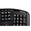 Adesso Tru-Form 4500 - 2.4GHz Wireless Ergonomic Touchpad Keyboard - Wireless Connectivity - RF - USB Interface - 105 Key - English (US) - TouchPad - Windows - Membrane Keyswitch - Black Thumbnail 4
