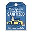 "Auto Supplies Mirror Hang Tags, Vehicle Sanitized, Jumbo, 8 1/2"" x 11 1/2"", Blue, 50/PK Thumbnail 1"
