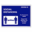 "Auto Supplies Social Distancing Door Signage,Interior, 8 1/2"" x 11"", 10/PK Thumbnail 1"