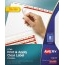 Avery® Print & Apply Clear Label Dividers, Index Maker® Easy Apply™ Printable Label Strip, 8 White Tabs, 5 ST/PK Thumbnail 1