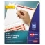 Avery® Print & Apply Clear Label Dividers, Index Maker® Easy Apply™ Printable Label Strip, 8 White Tabs, 50/BX Thumbnail 1