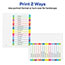 Avery® Customizable Table of Contents Dividers, Ready Index® Printable Section Titles, Preprinted 1-15 Arched Multicolor Tabs Thumbnail 4