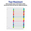 Avery® Customizable Table of Contents Dividers, Ready Index® Printable Section Titles, Preprinted 1-15 Arched Multicolor Tabs Thumbnail 2