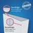 "Avery® Durable View Binder, 1"" Slant Rings, 220-Sheet Capacity, DuraHinge®, Dark Blue Thumbnail 2"