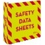 """Avery® Safety Data Sheet Heavy Duty Binder with One Touch EZD® Rings, 3"""", Yellow/Red Thumbnail 1"""
