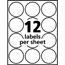 "Avery® Easy Peel® Labels, True Print®, Print to the Edge, Permanent Adhesive, Glossy, 2"" Round, 120/PK Thumbnail 5"