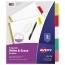 Avery® Big Tab™ Write & Erase Dividers, 5-Tab Set, Multicolor Thumbnail 1