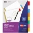 Avery® Big Tab™ Write & Erase Dividers, 8-Tab Set, Multicolor Thumbnail 1