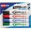 Marks-A-Lot® Desk-Style Dry Erase Markers, Chisel Tip, Assorted Colors, 4/ST Thumbnail 1