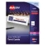 """Avery® Large Tent Cards, Uncoated, Embossed, Two-Sided Printing, 3 1/2"""" x 11"""", 50/BX Thumbnail 1"""