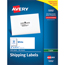 """Avery® Shipping Labels for Copiers, Permanent Adhesive, 2"""" x 4 1/4"""", 1000/BX Thumbnail 1"""