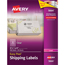 """Avery® Easy Peel® Shipping Labels, 3 1/3"""" x 4"""", Clear, 300/BX Thumbnail 1"""