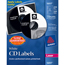 Avery® CD Labels, Print to the Edge, Permanent Adhesive, 250 Disc Labels and 500 Spine Labels/PK Thumbnail 1