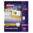 """Avery® Clean Edge® Business Cards, Uncoated, Two-Sided Printing, 2"""" x 3 1/2"""", 2000/BX Thumbnail 1"""
