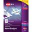 "Avery® Adhesive Name Badges, Blue Border, 2 1/3"""" x 3 3/8"""",  400/BX Thumbnail 1"