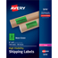 "Avery® High-Visibility Shipping Labels, Permanent Adhesive, Neon Green, 2"" x 4"", 1000/BX Thumbnail 1"