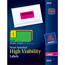 "Avery® High-Visibility Labels, Permanent Adhesive, Assorted Neon Colors, 2"" x 4"", 150/PK Thumbnail 1"