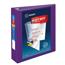"Avery® Heavy-Duty View Binder, 2"" One-Touch Rings, 500-Sheet Capacity, DuraHinge®, Purple Thumbnail 1"
