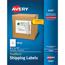 "Avery® Shipping Labels, TrueBlock® Technology, Permanent Adhesive, 8 1/2"" x 11"", 100/BX Thumbnail 1"