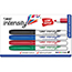 BIC® Intensity™ Low Odor Pocket Dry Erase Marker, Fine Point, Assorted, 4/ST Thumbnail 1