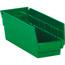 """W.B. Mason Co. Plastic Shelf Bin Boxes, 11 5/8"""" x 4 1/8"""" x 4"""", Green, 36/CS Thumbnail 1"""