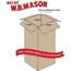 """W.B. Mason Co. Corrugated boxes, 10"""" x 10"""" x 20"""", Kraft, 25/BD Thumbnail 2"""