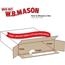 """W.B. Mason Co. Self-Seal Side Loading boxes, 12 1/2"""" x 3"""" x 17 1/2"""", White, 25/BD Thumbnail 2"""