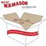 """W.B. Mason Co. Corrugated boxes, 18"""" x 12"""" x 6"""", White, 25/BD Thumbnail 2"""