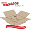 "W.B. Mason Co. Flat Corrugated boxes, 22"" x 10"" x 4"", Kraft, 25/BD Thumbnail 2"