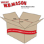 """W.B. Mason Co. Corrugated boxes, 22"""" x 14"""" x 8"""", Kraft, 25/BD Thumbnail 2"""