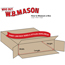 "W.B. Mason Co. Side Loading boxes, 40"" x 6"" x 40"", Kraft, 20/BD Thumbnail 2"