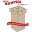 """W.B. Mason Co. Tall Corrugated boxes, 6"""" x 6"""" x 10"""", Kraft, 25/BD Thumbnail 2"""